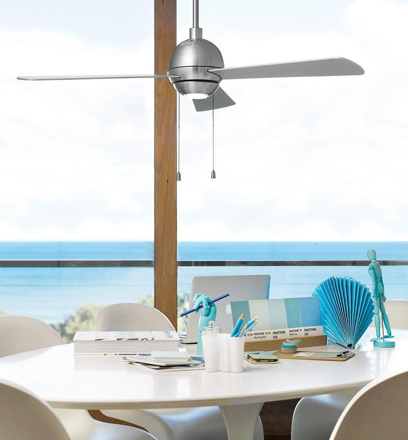Aluminium ventilator met verlichting in keuken