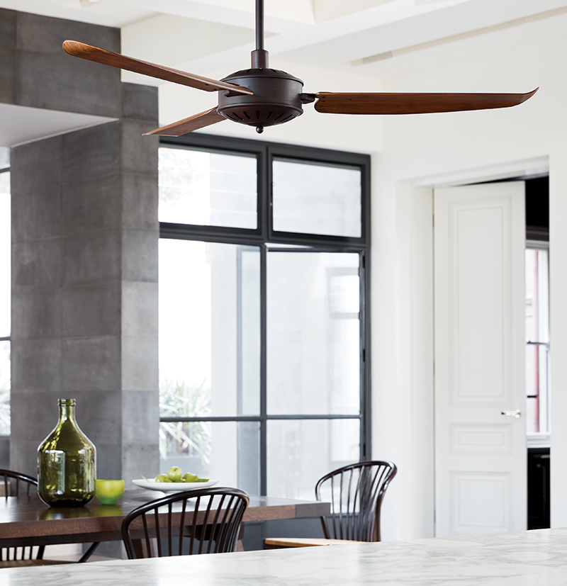 Houten ventilator in keuken